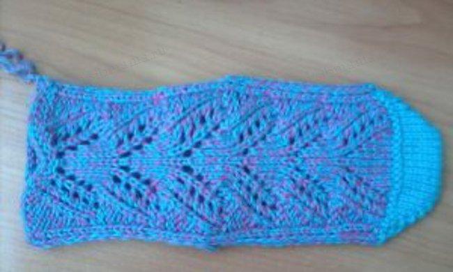 На прошлой неделе у нас был мастер-класс по вязанию детских носочков, а теперь будем вязать взрослые с узорами